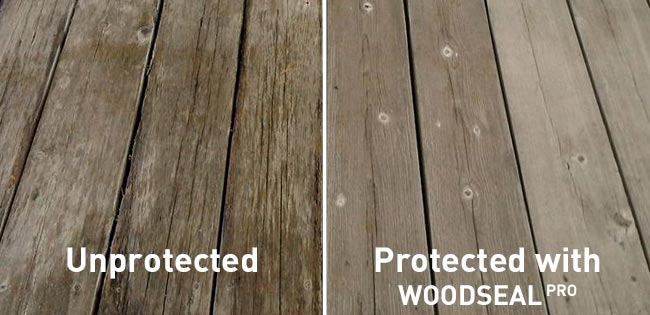 Woodseal Pro - benefits - wood protected, unprotected