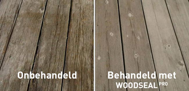 Woodseal Pro - voordelen hout impregneren - behandeld onbehandeld